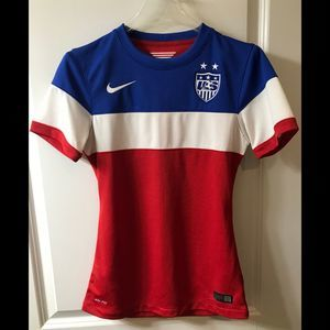 Nike Women's XS USA Soccer Jersey Authentic 2014